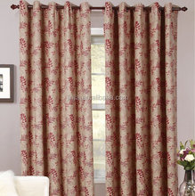 Luxury two tones different styles jacquard curtains, jacquard woven ready made curtains