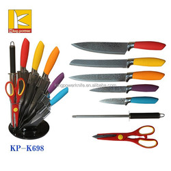 acryl block new design blade strong stainless steel kitchen knife set