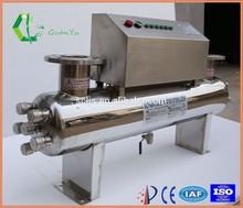 Acero inoxidable UV estanque de filtro para agua esterilizador
