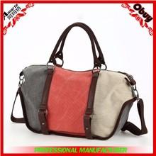 Hot sale big size canvas lady handbags
