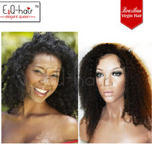 2012 indian remy human hair kinky curly full Lace wigs