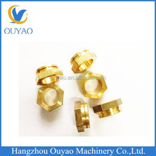 cnc precision machined brass parts adapter cnc machining brass parts