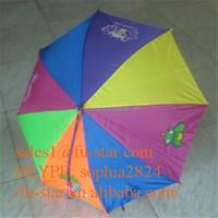 FS outdoor umbrella sun rain umbrella parasols novel cartoon Totes Classics Ladies 1 Section Automatic Children's Umbrella