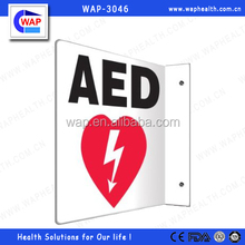 Trade Assurance WAP-health flat type plastic or aluminium AED wall sign