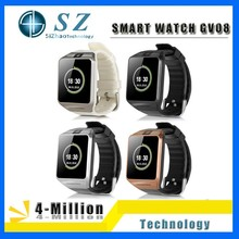 Factory price fashion watch GV08 smart watch,smart Bluetooth watch GV08 for mobile phone
