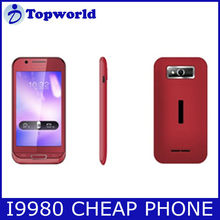 "dual sim card dual standby mobile phone 4.0"" bar phone cheap PDA phone i9980"