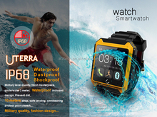 IP68 waterproof smart bluetooth watch for android, ios smart phone in wholesale
