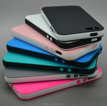 Hot selling Wholesale Thin Two-tone Soft Frame Rubber Case for iPhone 5 TPU Bumper Case