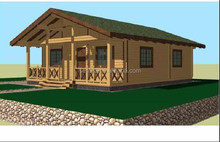 2015 new design low cost prefabricated wood houses