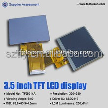 230 CD/M2 Luminance 3.5Inch capacitive touch screen for electronic Products TF35014A