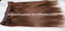 al por mayor venta caliente del pelo humano baratos halo extensiones de cabello lacio 2# halo extensiones de cabello