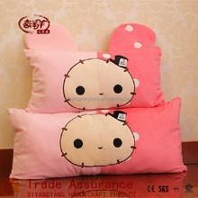 cute plush toy printrabbit long pillow Super soft fabric cushion