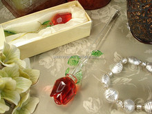 Crystal Glass Rose for Wedding Favor MH-R0120