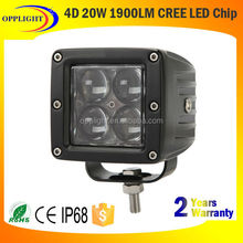 20W rechargeable work light,aluminum light housing waterproof for camping, car fixing etc