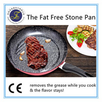 Fat free Less oil healthier double sided frying pan