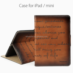 Customized size and shapes pu leather printing case for ipad 2 3 4 5
