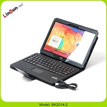 Tablet pc keyboard For Samsung Galaxy, detachable case with keyboard for samsung galaxy, removable keyboard with leather case