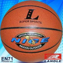 good new official size new style rubber made composite material rubber basketball