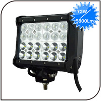 Warranty 2 year off road IP68 flood spot combo Epistar led aluminum housing 72w 4 row 4x4 led light bar