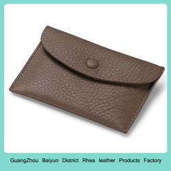 Customized leather change purse
