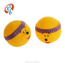 good quality squeaky smile face ball vinyl dog toys pet toys