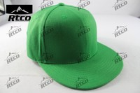 Top quality professional Green sports promotional logo hip-pop hats (plate 6-panel cap)