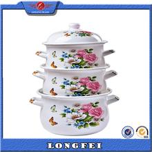 6pcs cast iron cookware set with enamel lid