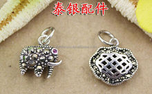 925 silver elephant and lucky lock pendants mixed diy jewelry findings