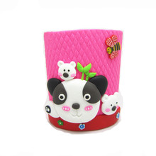 Fimo clay cat figures pen holder polymer clay figure toys