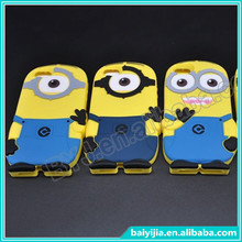 Animal Shaped 3D Cartoon Case Cover, for iPhone 4S Silicone Case despicable me minion Cover