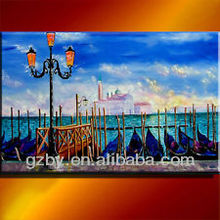Venice SUNSET GONDOLAS ITALY OIL PAINTING ART ORIGINAL