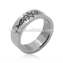 popular unique engraved ring for man and woman