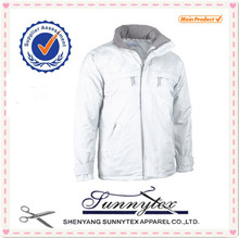 Sunnytex 2014 design plain varsity jacket wholesale winter padded warm jacket