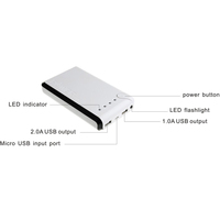 2015 dropshipping rechargeable battery pack 10000mAh With 2A Output And Flashlight