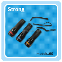 Multicolor aluminum alloy zoom LED strong light flashlight