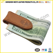 Classic Fancy Factory Supply Genuine Leather Money Clip Leather