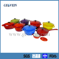 China supplier enamel cast Iron non-stick cookware