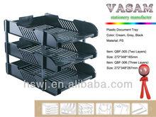 Hot sale plastic material desk file organizer, desk organizer document tray, office desk orgianizer