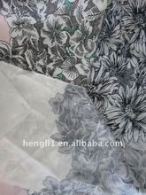 poly satin printed fabric