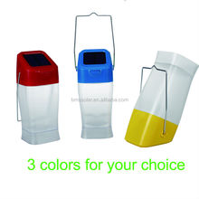 LED solar rechargeable lantern for camping