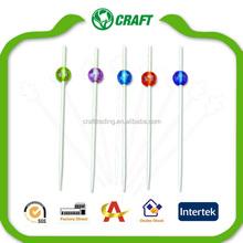 Caliente la venta del partido decorativa de bambú Pick decoración de la bola de selecciones de bambú