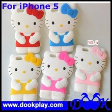 For iPhone 5 Hello Kitty Silicone Cases
