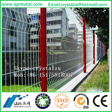 Iron Metal Type and PVC Coated Frame Finishing chain link Security Fence