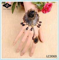 2015 latest design tatting bracelet pattern cord leather fabric bracelet wedding jewelry