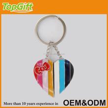 Custom broken heart keychain for lover