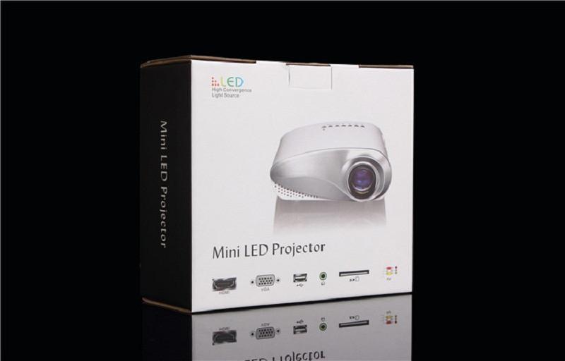 Проектор PHIKER 200lumens 3d/lcd HDMI USB AV VGA LX200