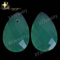 Milky Gemstones Briolette Stones Green Bangkok Jewellery Pear Shape