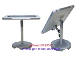 eStand BR23012 tablet metal case locked for ipad retailing display stand