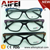 CP injection women style brushed wood painting eyeglasses frames