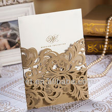 New Popular Style wholesale Laser Cut Wedding Invitation and Business Party Invitation Cards